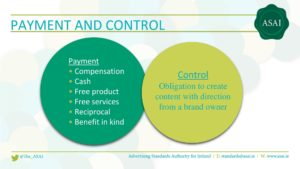 Sponsored Blog Post Ads ASAI Payment and Control